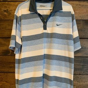 Nike Gold Dri Fit Tour Performance Polo